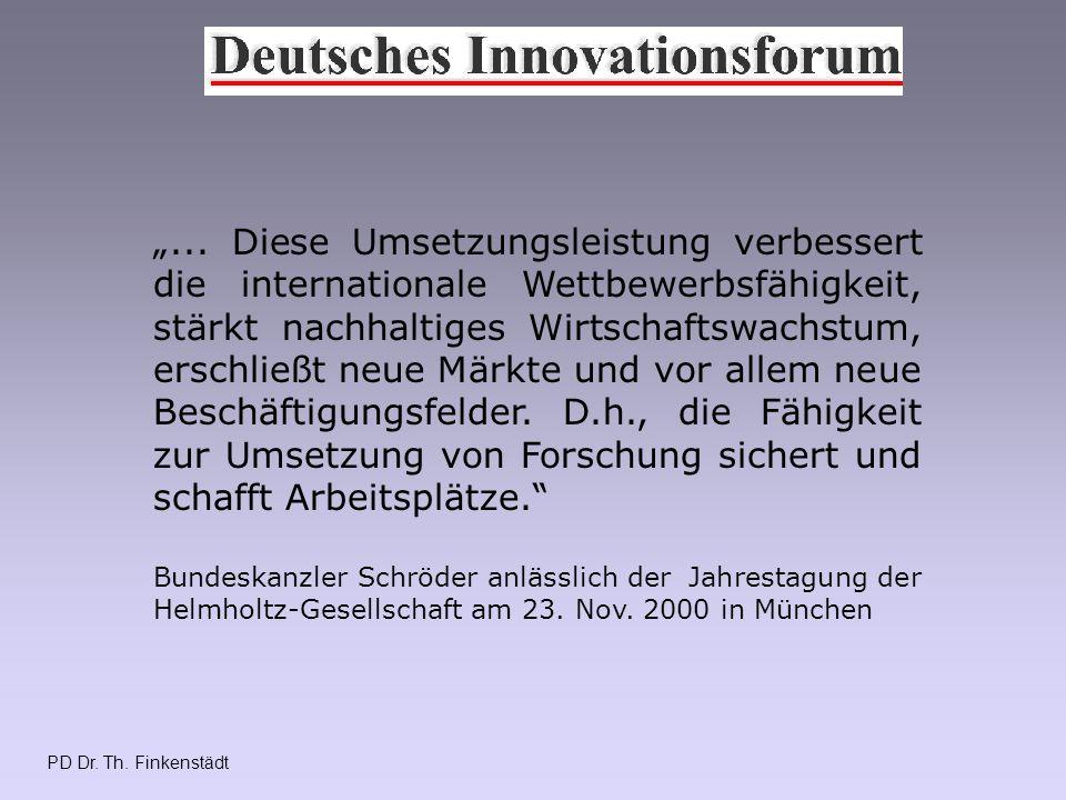 PD Dr.Th. Finkenstädt Veränderte Rahmenbedingungen Reform des Hochschullehrerprivilegs, d.h.