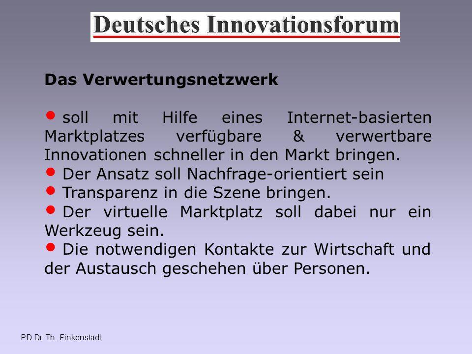 PD Dr.Th. Finkenstädt Deutsches Innovationsforum Trägerverein gegründet Nov.