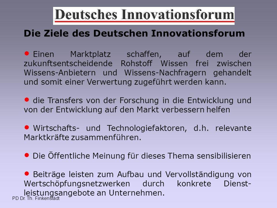 PD Dr.Th. Finkenstädt Was ist das Innovative am DI .