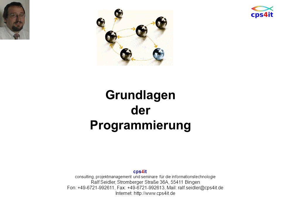 cps4it consulting, projektmanagement und seminare für die informationstechnologie Ralf Seidler, Stromberger Straße 36A, 55411 Bingen Fon: +49-6721-992