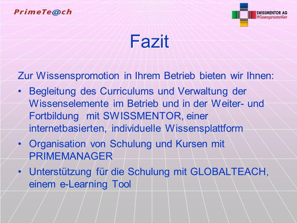 SW -WMBeratungKonzeptFirmaWie Wozu21/21 Fazit Zur Wissenspromotion in Ihrem Betrieb bieten wir Ihnen: Begleitung des Curriculums und Verwaltung der Wi