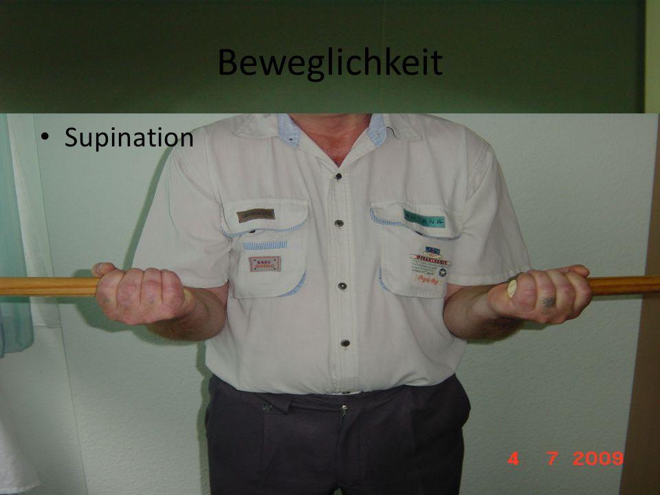 Beweglichkeit Supination