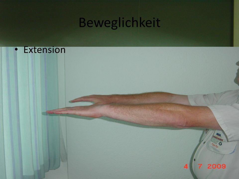 Beweglichkeit Flexion