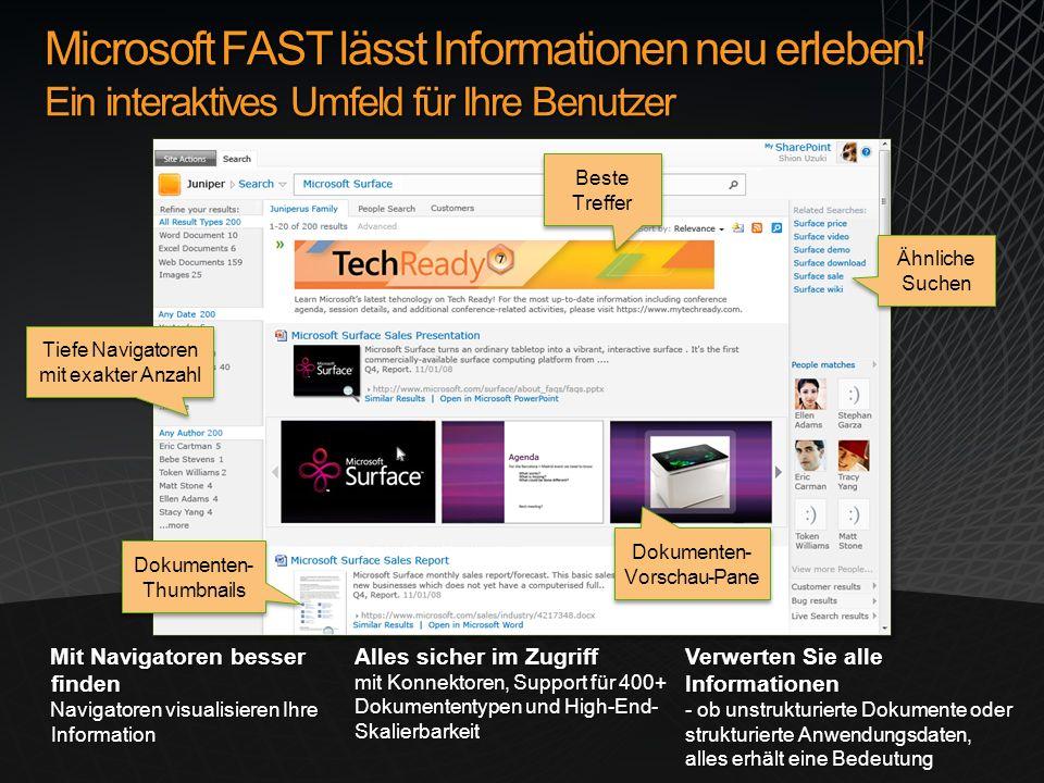 Microsoft FAST lässt Informationen neu erleben.