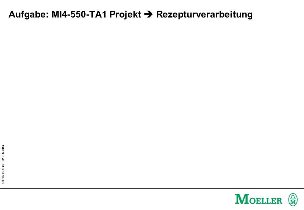 Schutzvermerk nach DIN 34 beachten Aufgabe: MI4-550-TA1 Projekt Rezepturverarbeitung