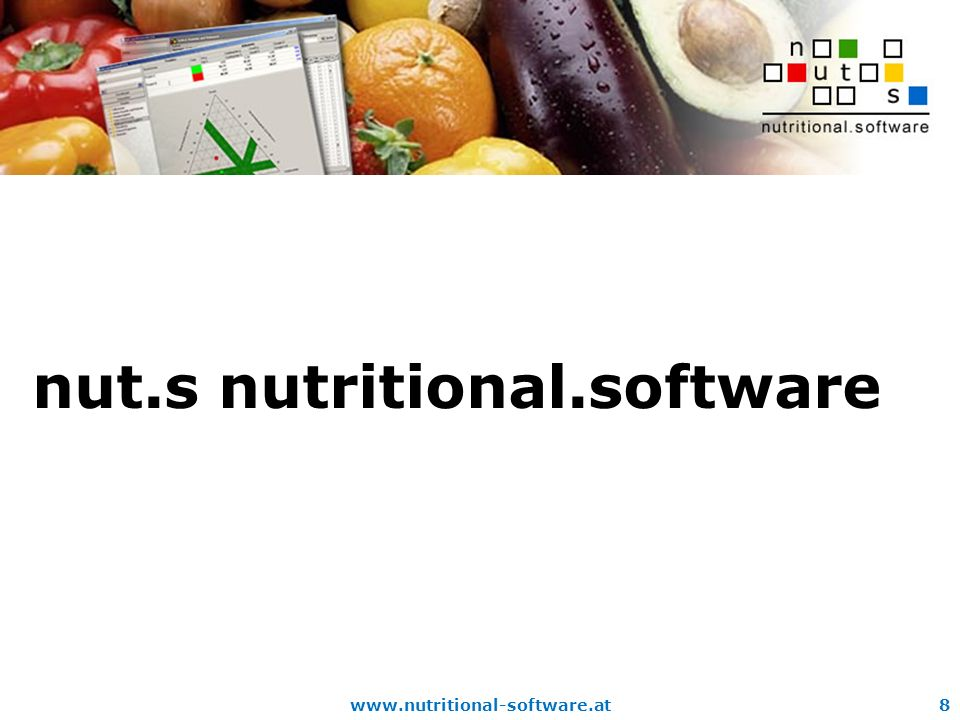 www.nutritional-software.at8 nut.s nutritional.software
