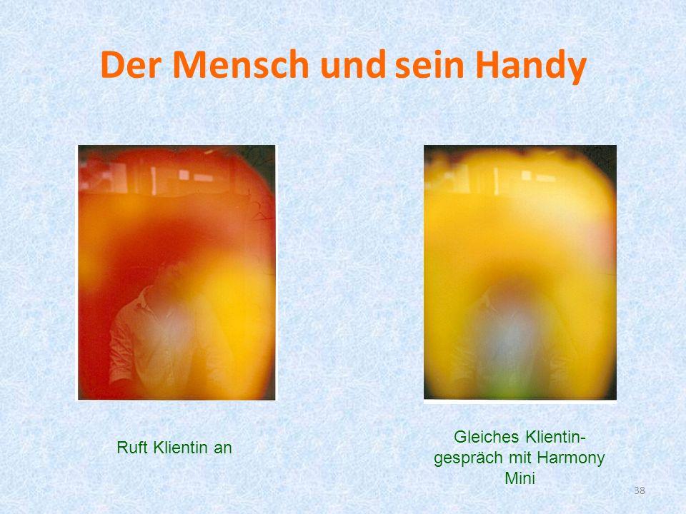 Der Mensch und sein Handy 38 Ruft Klientin an Gleiches Klientin- gespräch mit Harmony Mini