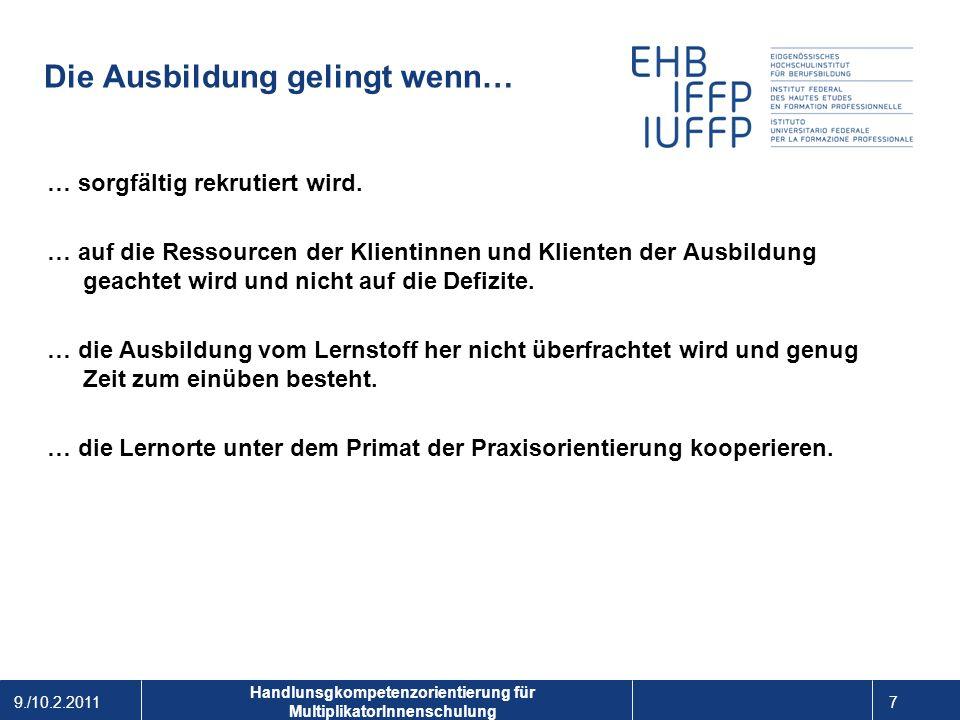 Handlungskompetenzorientierung in der Berufsbildung Emanuel A.