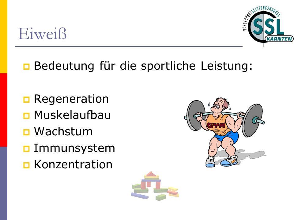 Eiweiß Bedeutung für die sportliche Leistung: Regeneration Muskelaufbau Wachstum Immunsystem Konzentration