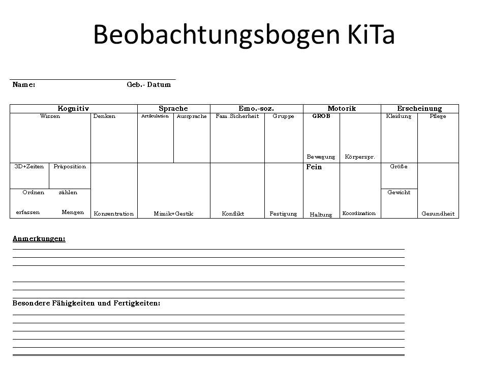 Beobachtungsbogen KiTa