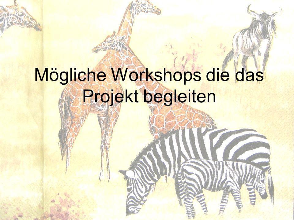 Mögliche Workshops die das Projekt begleiten