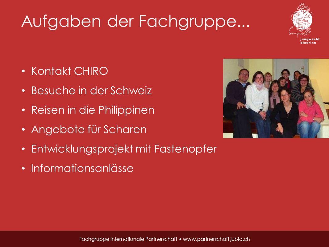 Wie alles begann… Fachgruppe Internationale Partnerschaft www.partnerschaft.jubla.ch