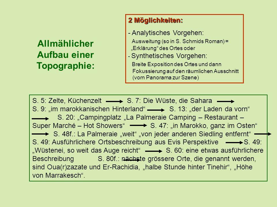 Allmählicher Aufbau einer Topographie: S.5: Zelte, Küchenzelt S.