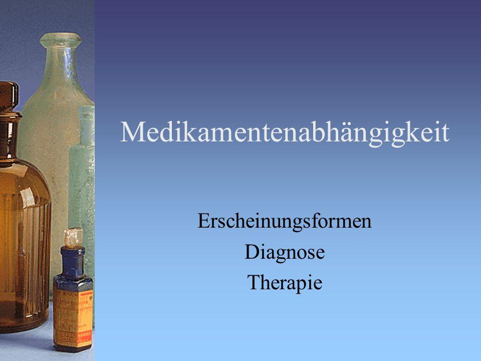 Themenbereiche Wer und wie viele sind betroffen Problematische Medikamentengruppen Therapieangebote Therapieinhalte Dr.