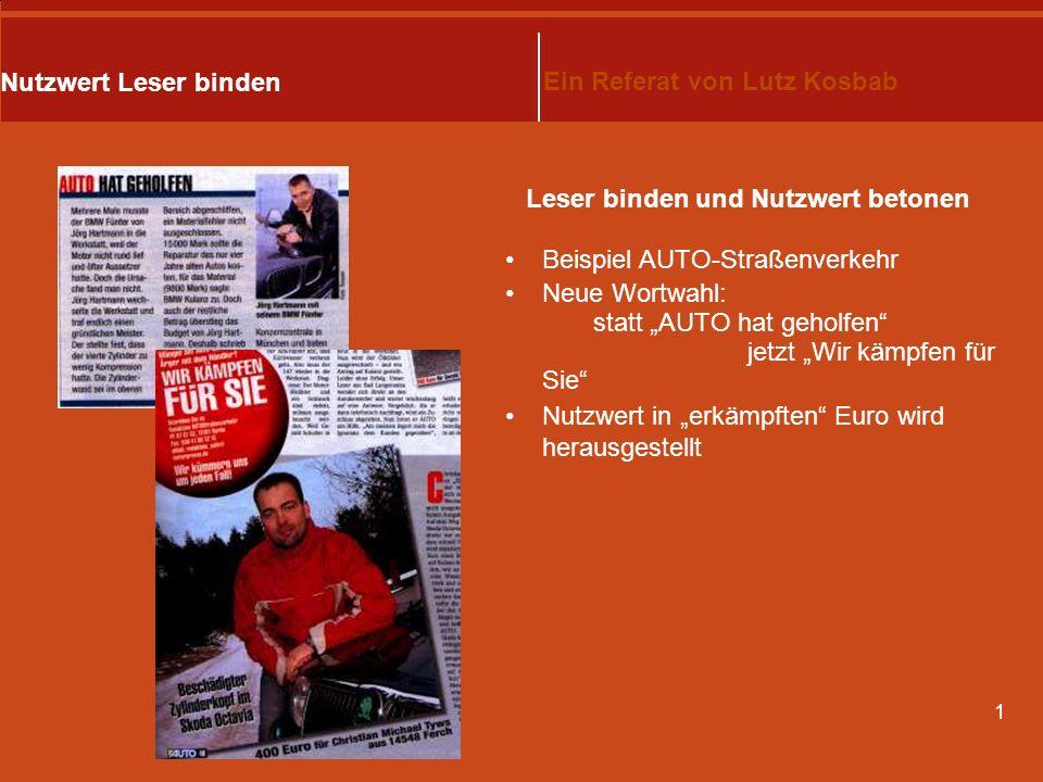 1 Mit Nutzwert Leser binden Ein Referat von Lutz Kosbab Rechtsberatung kann allgemein oder auf spezielles Thema ausgerichtet sein beraten wird schrift