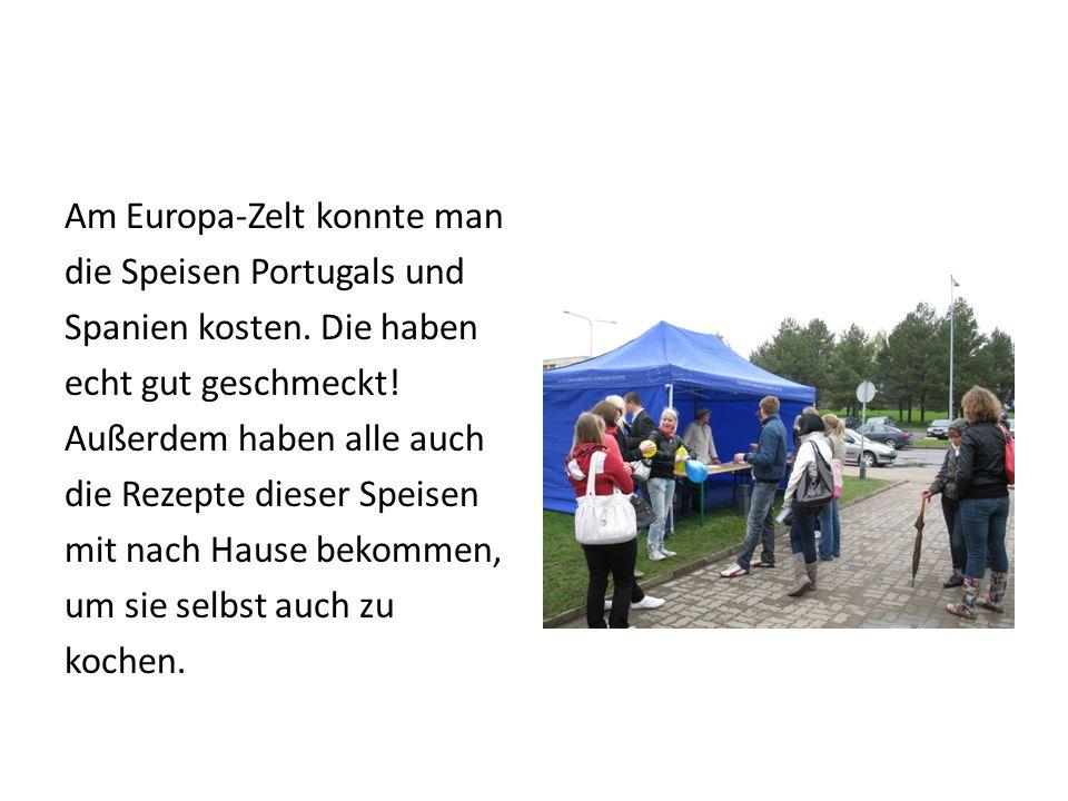 Am Europa-Zelt konnte man die Speisen Portugals und Spanien kosten.