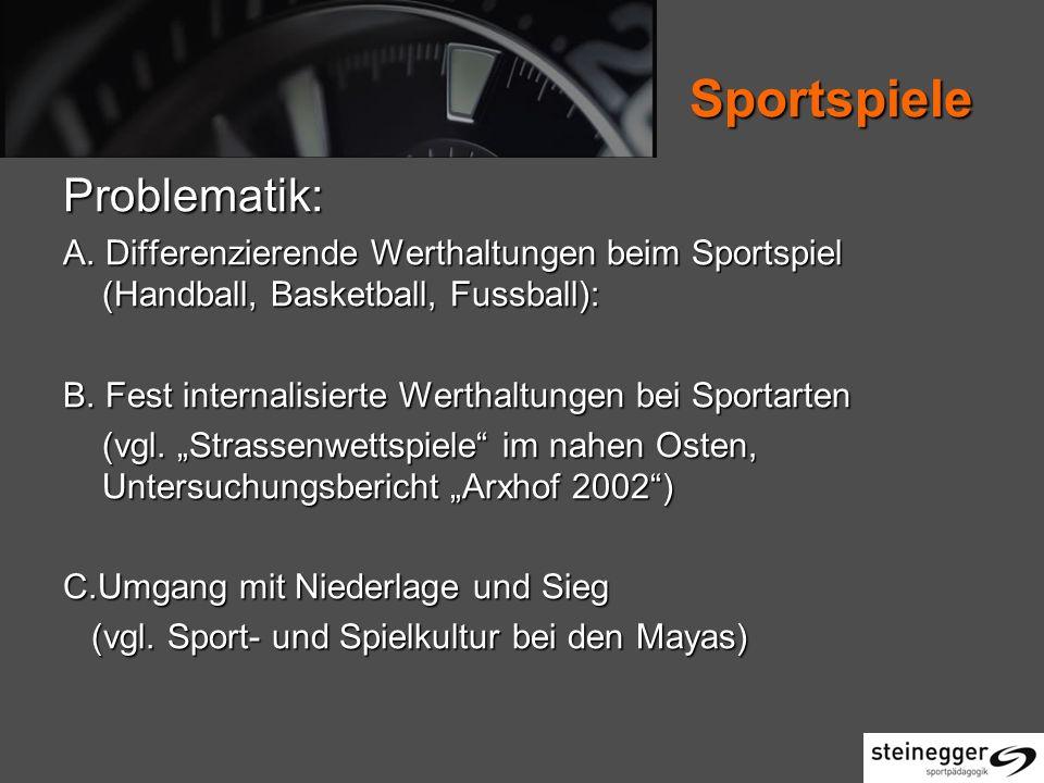 Sportspiele Problematik: A.