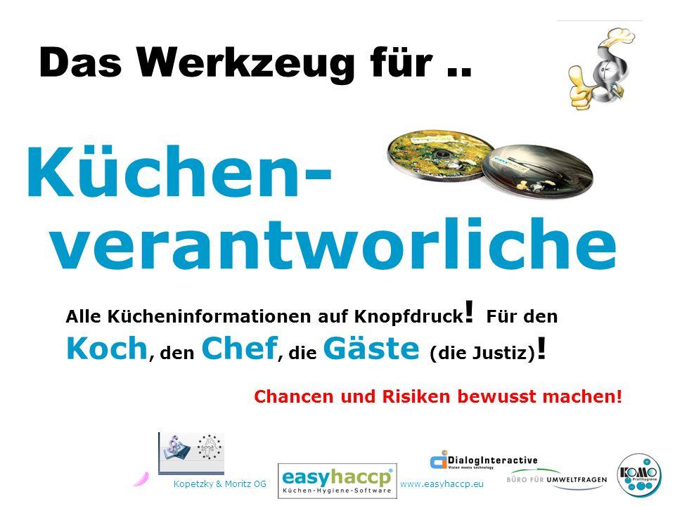 Kopetzky & Moritz OGwww.easyhaccp.eu für Rezepte Hygiene Planung Organisation Kontrolle