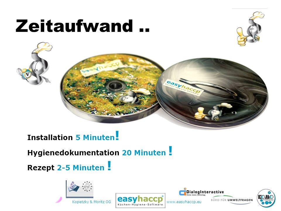 Kopetzky & Moritz OGwww.easyhaccp.eu Zeitaufwand..