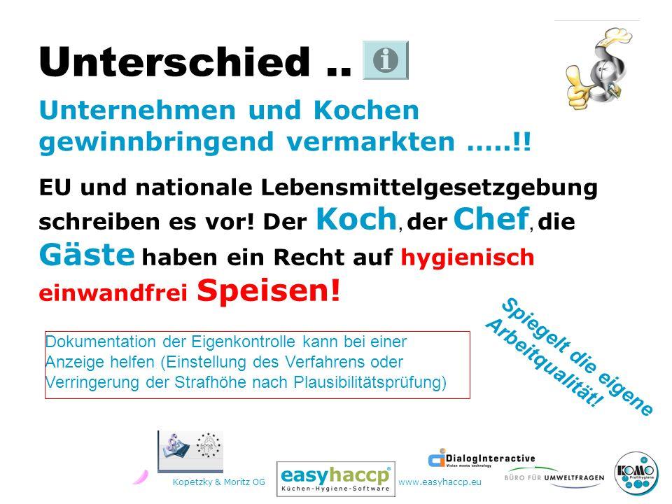 Kopetzky & Moritz OGwww.easyhaccp.eu EU und nationale Lebensmittelgesetzgebung schreiben es vor.