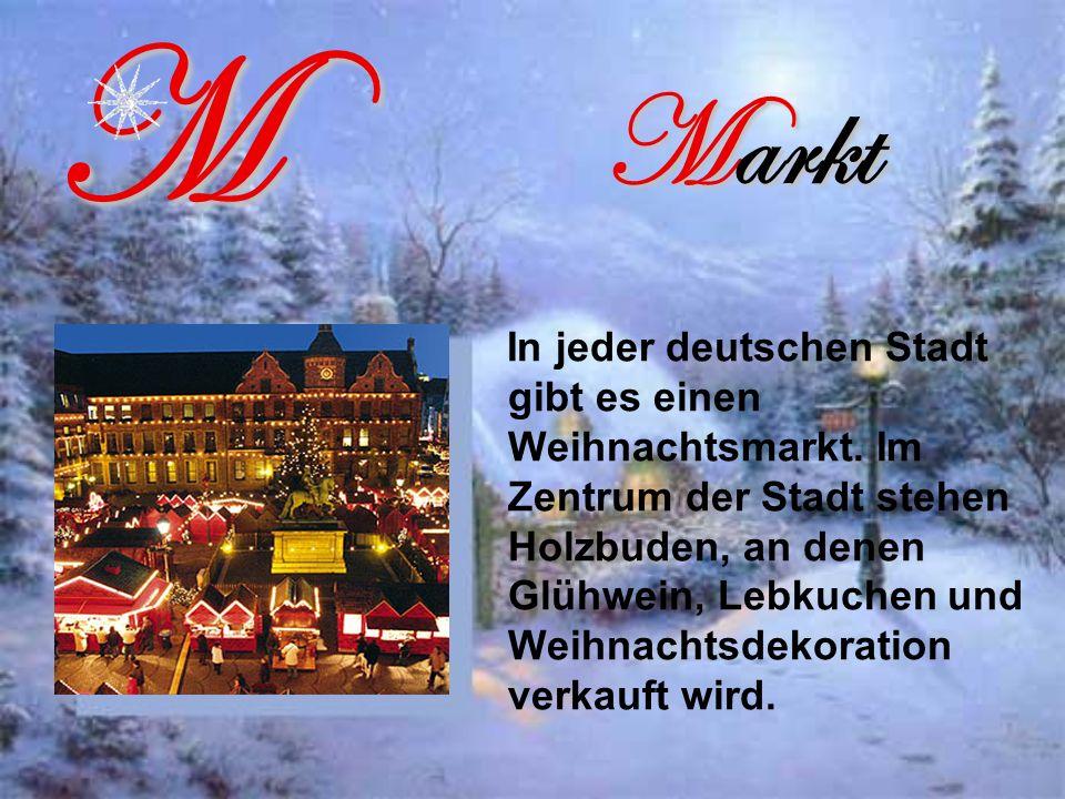 Markt In jeder deutschen Stadt gibt es einen Weihnachtsmarkt.