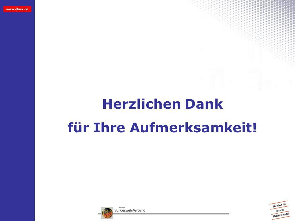 www.dbwv.de Herzlichen Dank für Ihre Aufmerksamkeit!