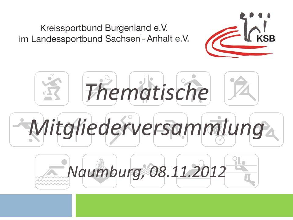 Thematische Mitgliederversammlung Naumburg, 08.11.2012