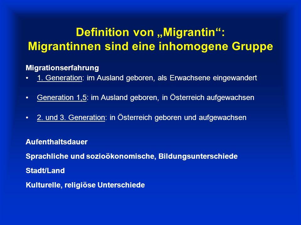Unterschied Migrant-Ausländer Der Begriff Migrantin ist anders zu verstehen als der Begrifff Ausländerin.