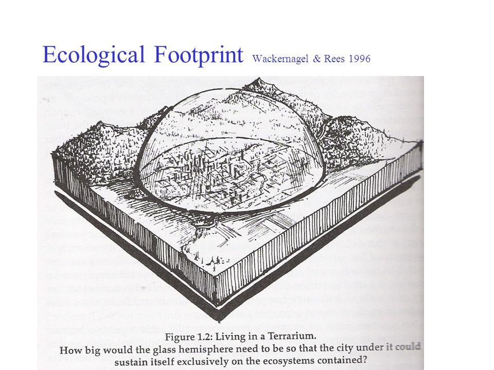 Ecological Footprint Wackernagel & Rees 1996