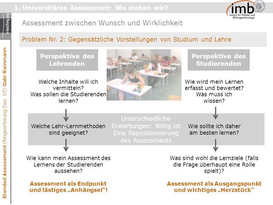 Blended Assessment (Ringvorlesung Dez.