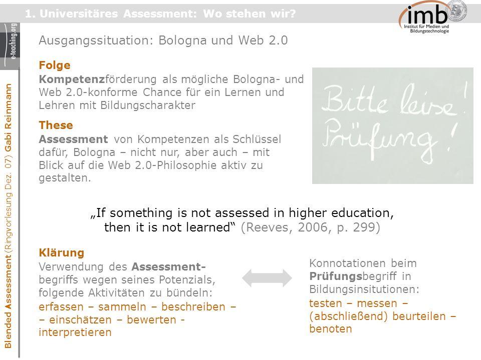 Blended Assessment (Ringvorlesung Dez. 07) Gabi Reinmann 1.