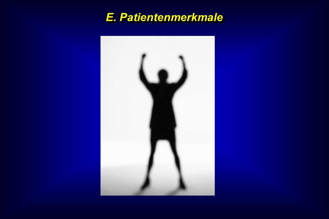 E. Patientenmerkmale