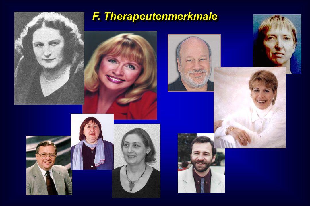 F. Therapeutenmerkmale