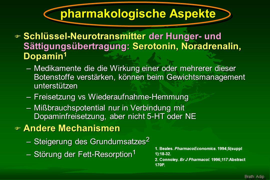 Zur Unterstützung von Änderungen des Lebensstils und deren Aufrechterhaltung Brath: Adip Bedeutung von Medikamenten zur Therapie der Adipositas: