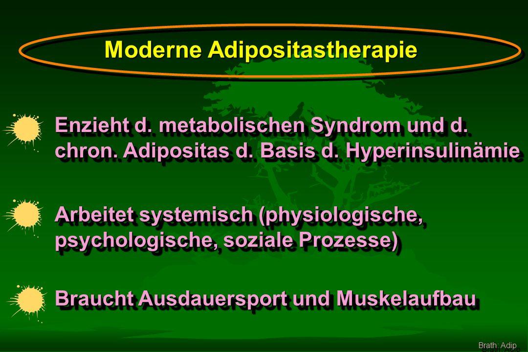 Ernährung Therapie BewegungVerhalten Medikamentechirurg. Ther. Erhaltungsphase Brath: Adip