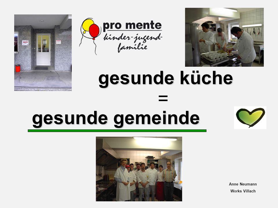 gesunde gemeinde = gesunde küche Anne Neumann Works Villach