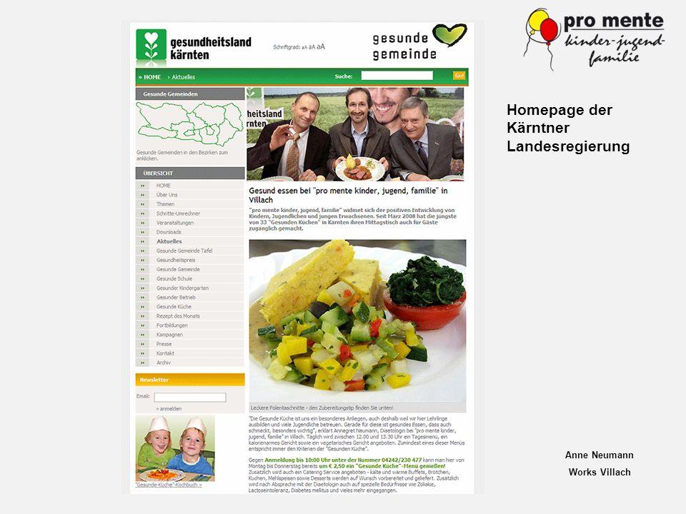 Anne Neumann Works Villach Homepage der Kärntner Landesregierung