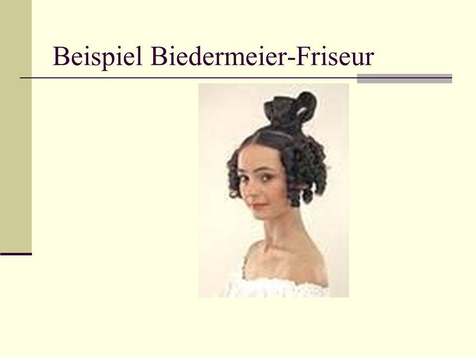 Beispiel Biedermeier-Friseur