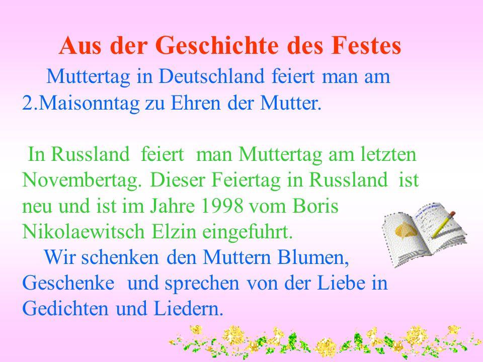 Liebe Geschenke Blumen Gedichte Muttertag Lieder