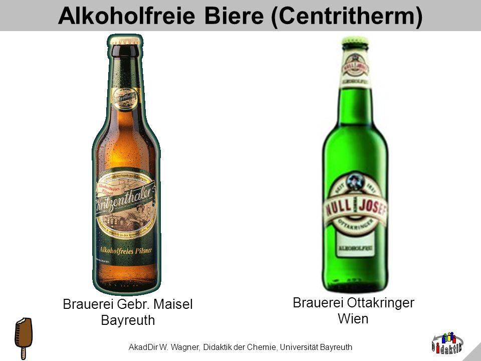 AkadDir W. Wagner, Didaktik der Chemie, Universität Bayreuth Das Centritherm-Verfahren Austritt des Alkohol–Wasserdampf- Gemisches Einlass von Bier Ei