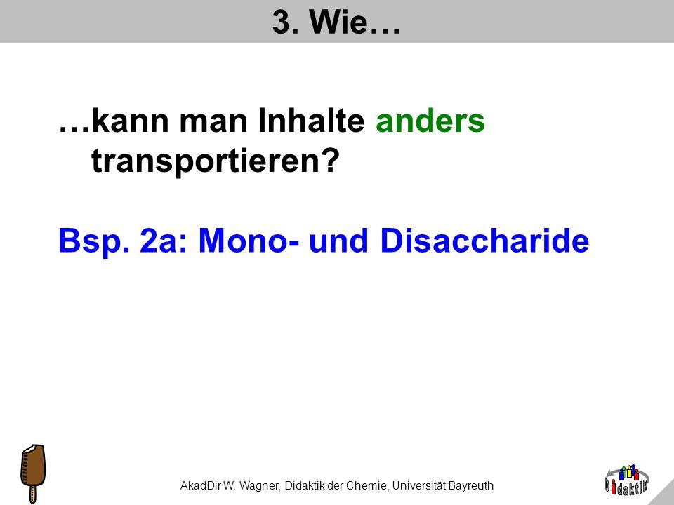 AkadDir W. Wagner, Didaktik der Chemie, Universität Bayreuth 1 UEinheit 2 Seiten Aufbereitung von Inhalten 22 Publikationen 26 Bücher 16 URL 8 Firmen