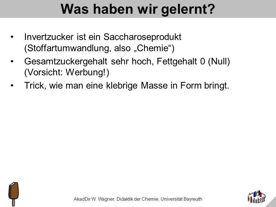 AkadDir W. Wagner, Didaktik der Chemie, Universität Bayreuth Gummibären-Forschungsthemen Universität Bonn, Psychologisches Institut: Einfluss der Tüte