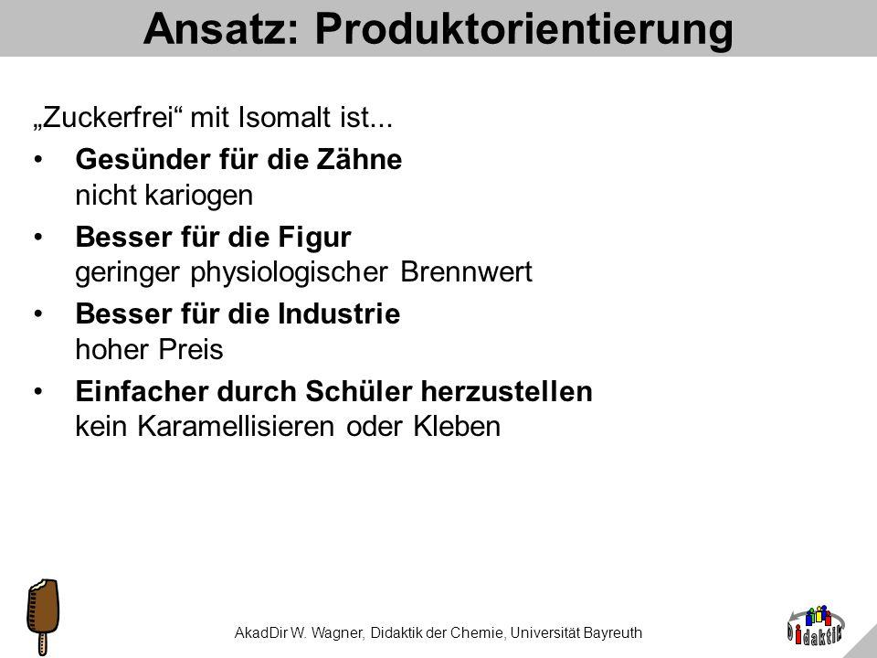 AkadDir W. Wagner, Didaktik der Chemie, Universität Bayreuth Ansatz: Formel & Struktur von Isomalt Isomalt GPMIsomalt GPS