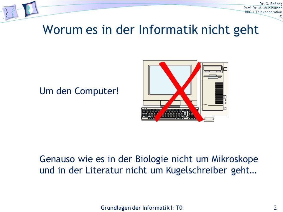 Dr. G. Rößling Prof. Dr. M.