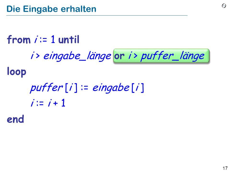 Ein überlaufender Puffer! Daten Der Stapel 0 Programm Max Routine 1 Routine 2 … Rücksprung- adresse, Argumente, lokale Variablen Routine n Mein böser