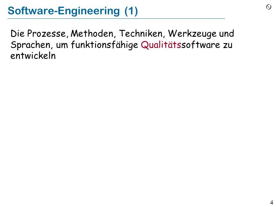 74 Modelle der Software-Verlässlichkeit Anzahl der Bugs abschätzen durch: Charakteristiken eines Programmes Anzahl bisher gefundener Bugs Variante: Fault injection