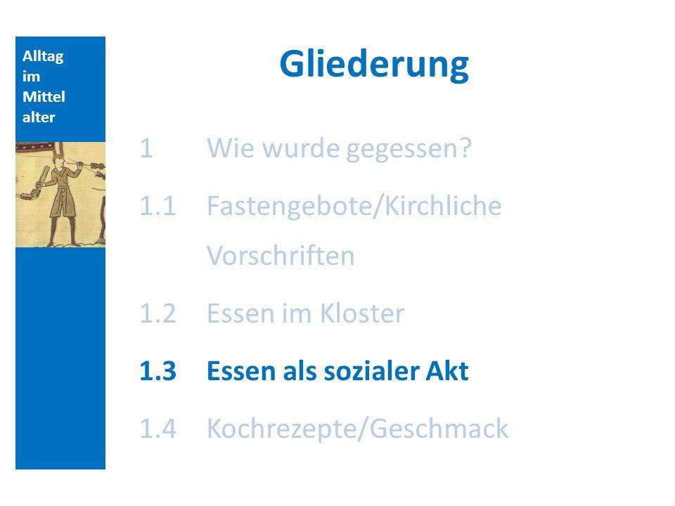Alltag im Mittel alter Essen als sozialer Akt Gerd Althoff, Der Frieden.
