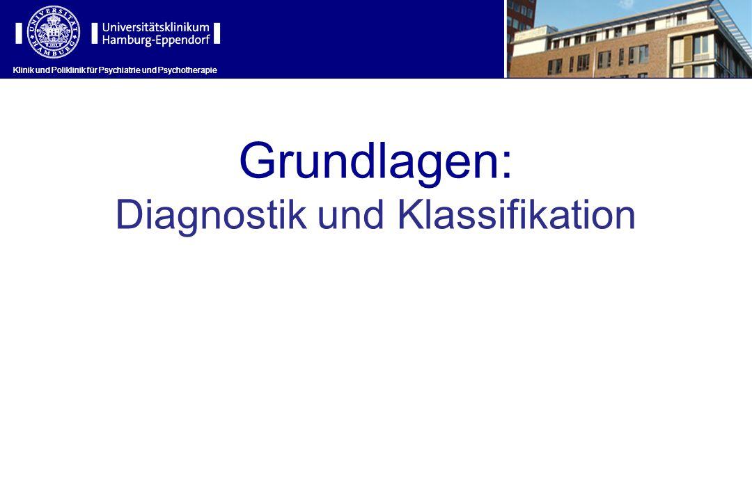Klinik und Poliklinik für Psychiatrie und Psychotherapie Grundlagen: Diagnostik und Klassifikation Klinik und Poliklinik für Psychiatrie und Psychothe