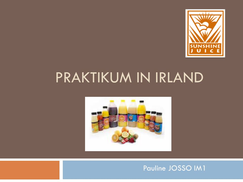 PRAKTIKUM IN IRLAND Pauline JOSSO IM1