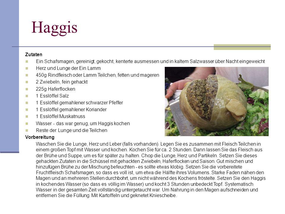 Haggis Zutaten Ein Schafsmagen, gereinigt, gekocht, kenterte ausmessen und in kaltem Salzwasser über Nacht eingeweicht Herz und Lunge der Ein Lamm 450